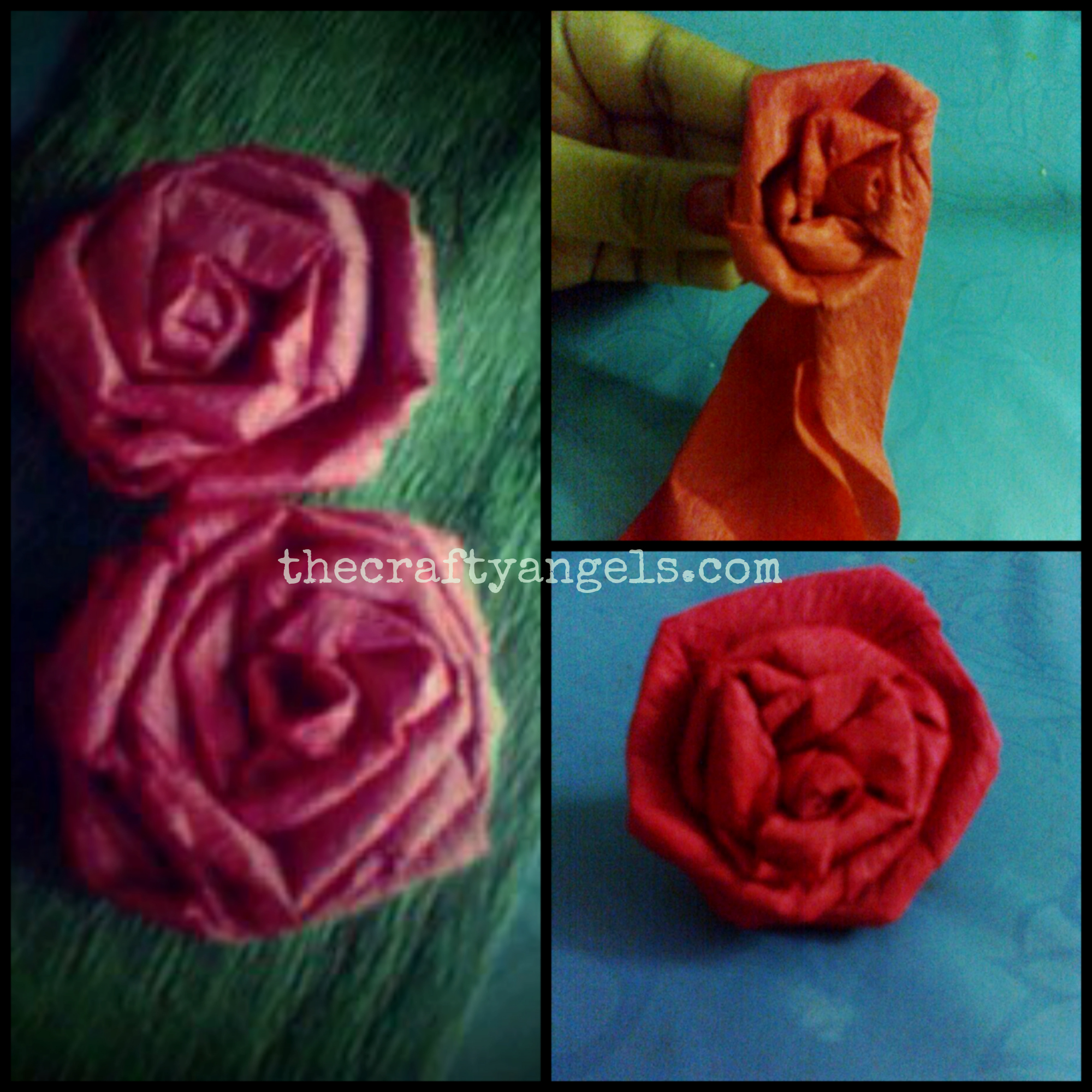Crepe Paper Rose Flower Tutorial 10