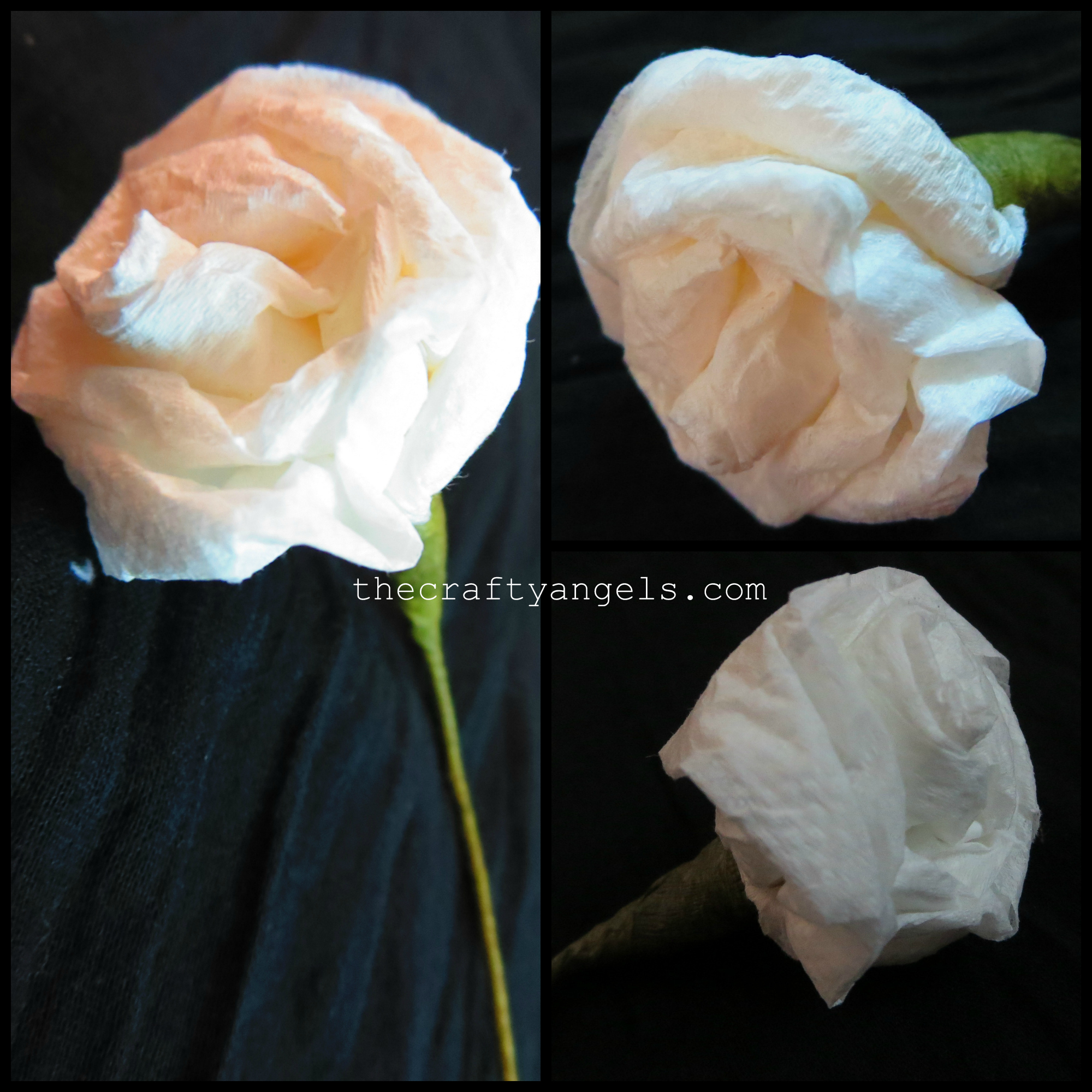 How to make Tissue Paper Rose Flowers #8 -