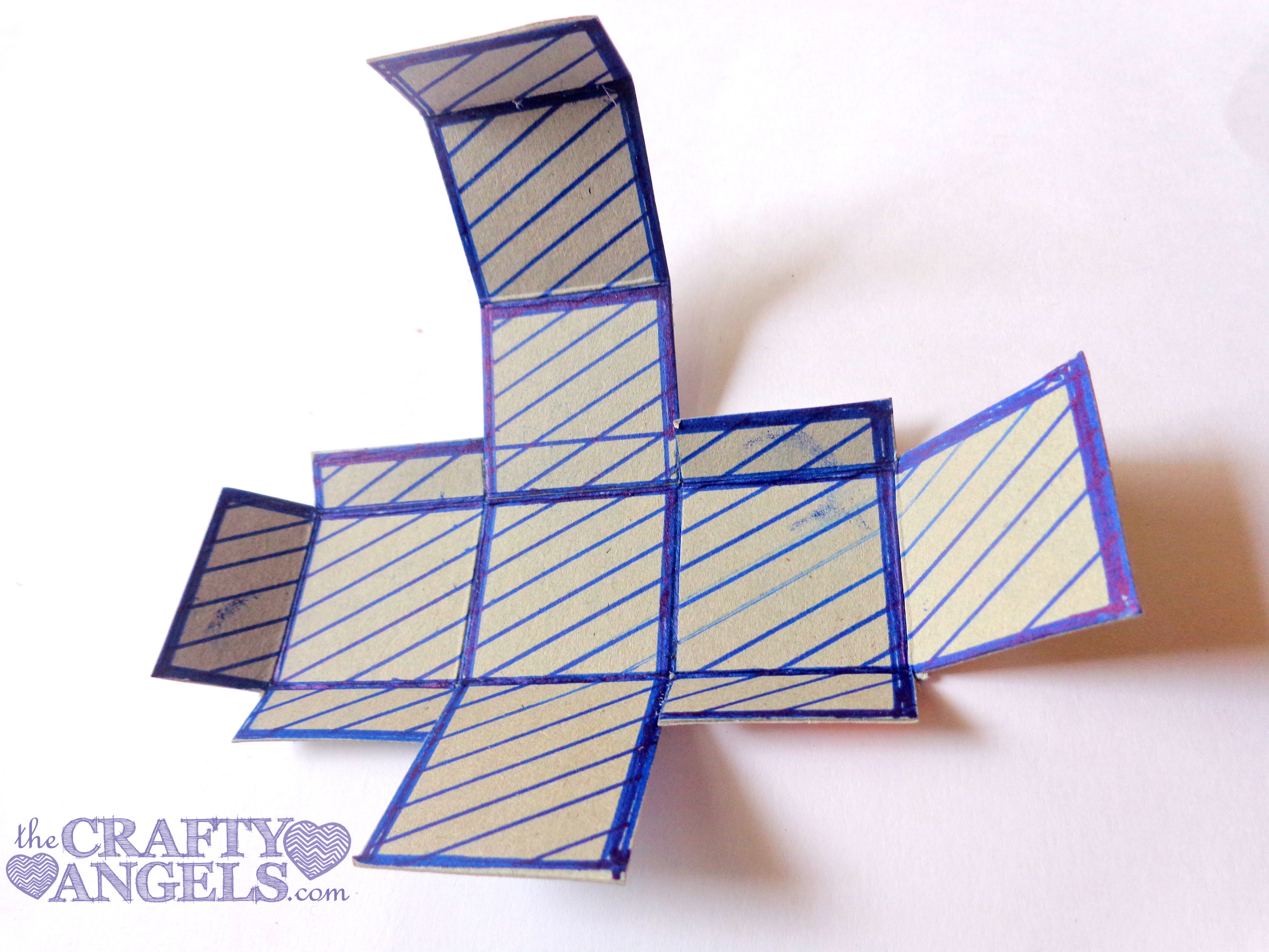Mini Gift Box Tutorial 7 Origami Angel Diagrams