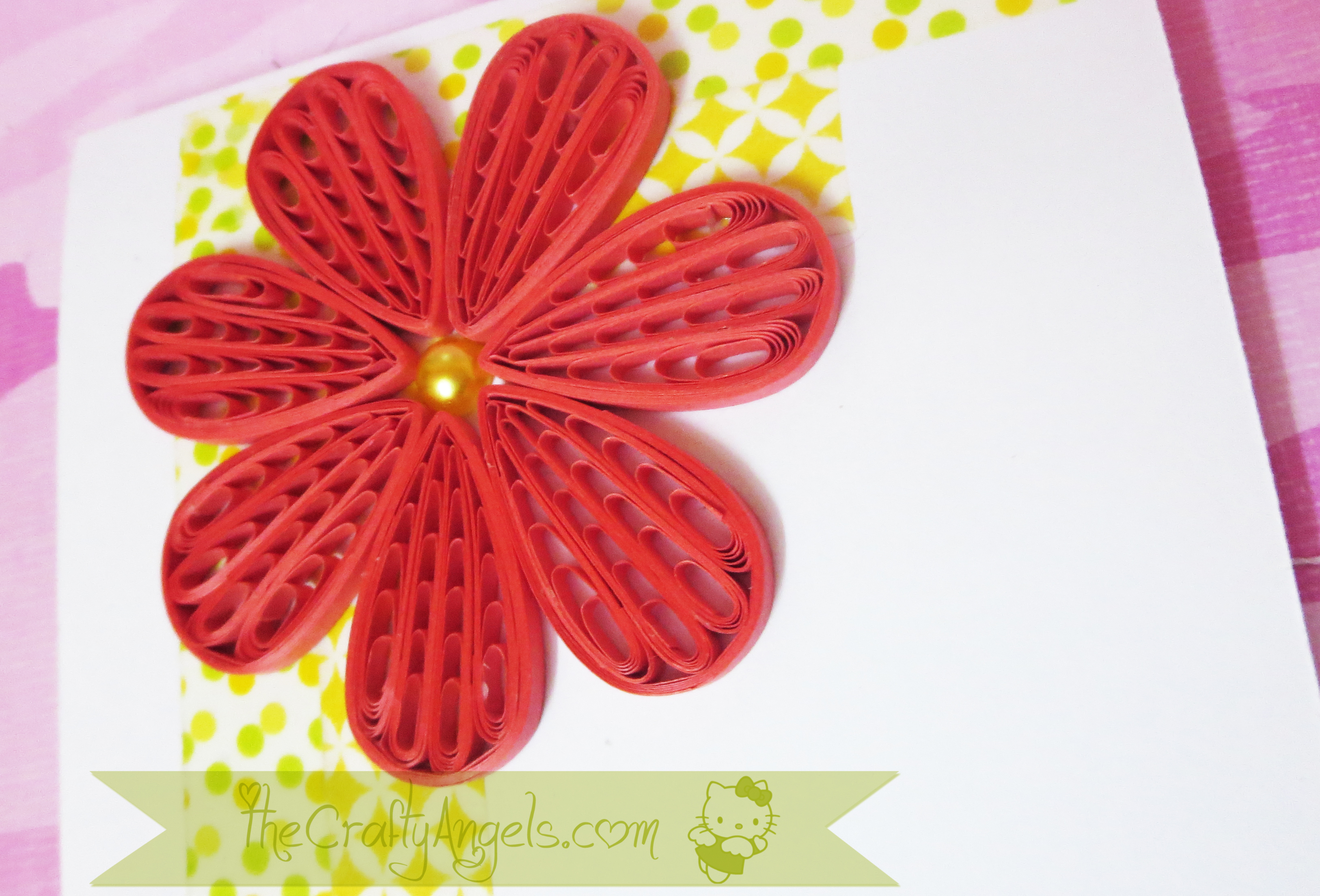 Quilling Comb Flower Tutorial With Video