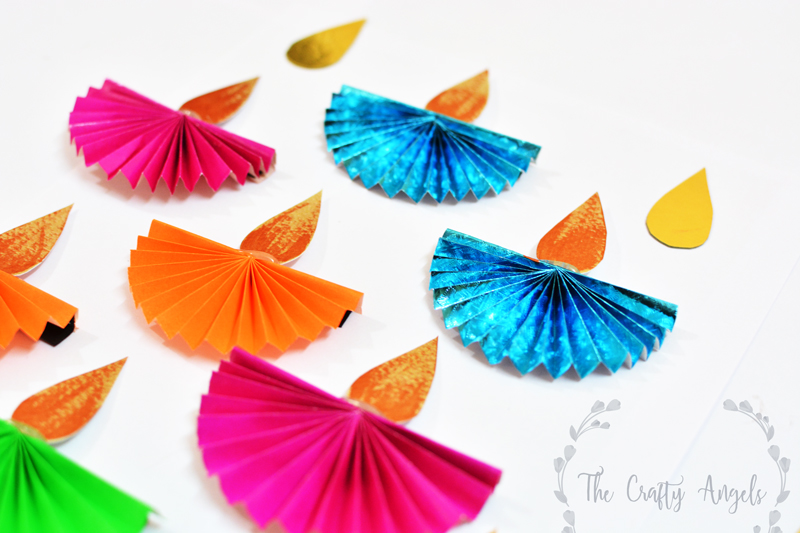 Diwali Craft For Kids Paper Diya