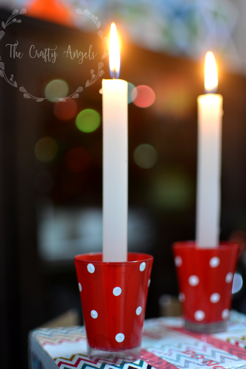 Diy advent candle holder advent candle ideas advent for 7 candle christmas decoration