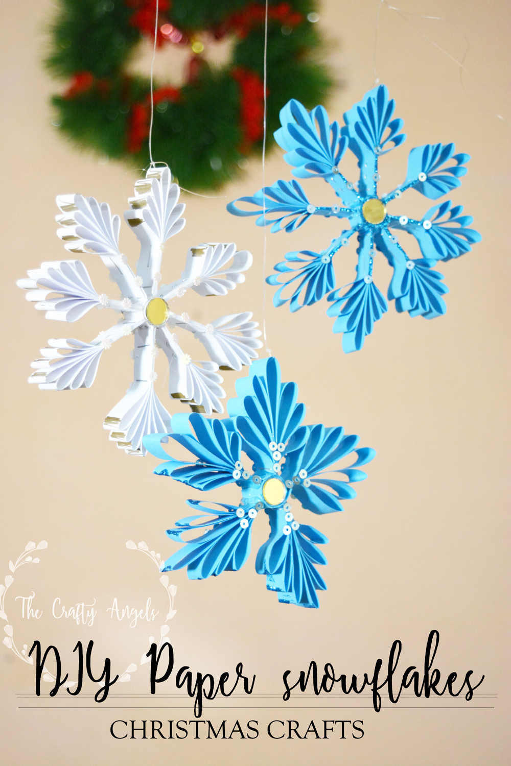 Diy Paper Snowflakes Christmas Ornaments Tutorial The
